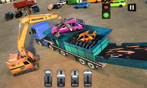 Car Crusher Crane Driver Dumper Truck Driving Game screenshot 1