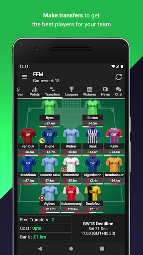 Fantasy Football Manager (FPL) 2 تصوير الشاشة