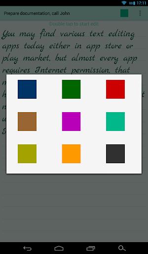 اللون ملاحظات 13 تصوير الشاشة