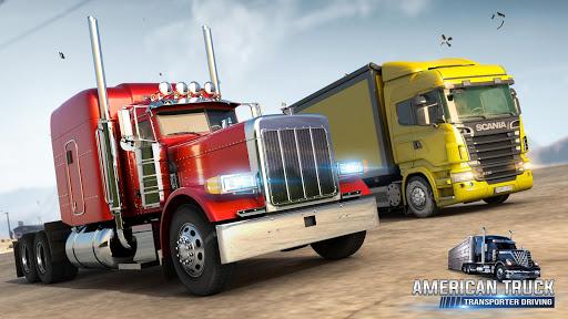American Truck Cargo Car Transporter Driving screenshot 6