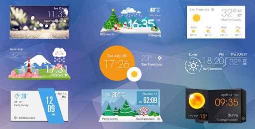 Z Style Weather Widget 6 تصوير الشاشة