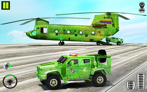 US Army Transporter Plane - Car Transporter Games screenshot 1