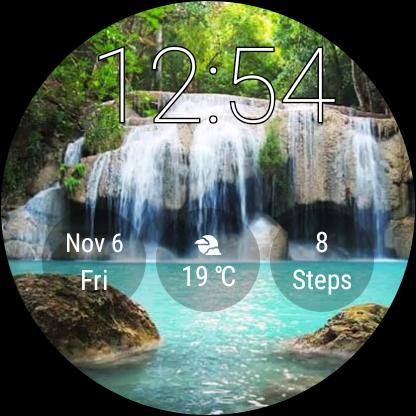 Watch Face Waterfall Wallpaper- Wear OS Smartwatch screenshot 9