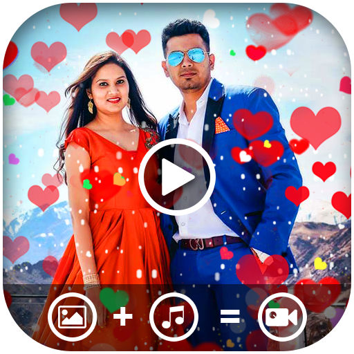 Heart Photo Effect Video Maker With Music icon