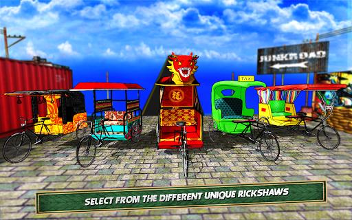 Bicycle Rickshaw Simulator 2019 : Taxi Game screenshot 6