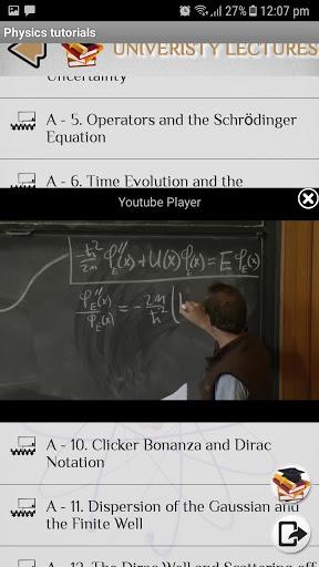 Physics - Tutorials - Lectures screenshot 2