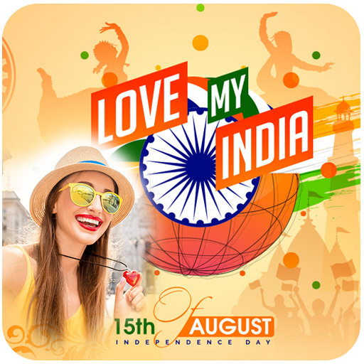 15 Aug Photo Frame - Independence Day Photo Frame أيقونة