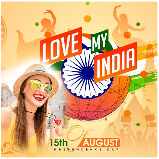 15 Aug Photo Frame - Independence Day Photo Frame icon