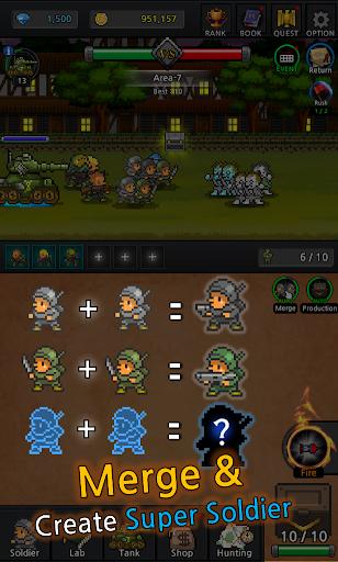Grow Soldier - Idle Merge game 2 تصوير الشاشة