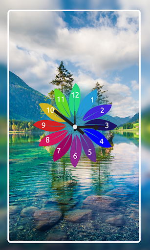 Nature Clock Live wallpaper 8 تصوير الشاشة