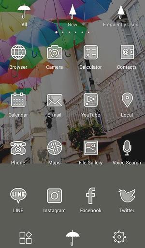 خلفيات وأيقونات Umbrella Sky 3 تصوير الشاشة