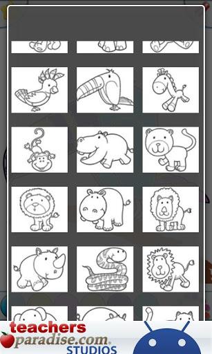 Jungle Animals Coloring Book screenshot 5