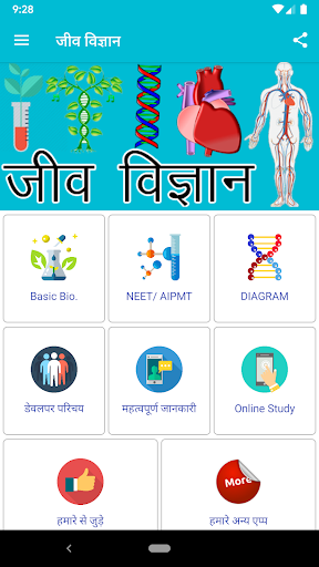 Biology in hindi (General and 8th to 12th Class) screenshot 1