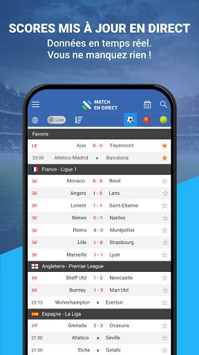 Match en Direct - Live Score 2 تصوير الشاشة
