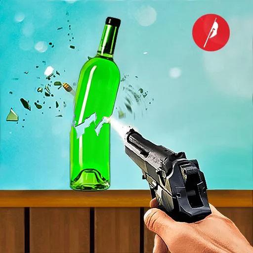 असली बोतल शूटिंग गन गेम्स- मुफ्त शूटिंग गेम्स 2020 आइकन