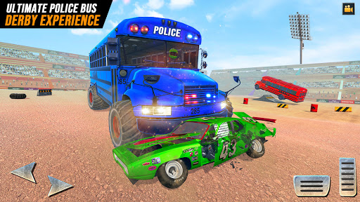 US Police Bus Demolition Derby Crash Stunts 2021 screenshot 1