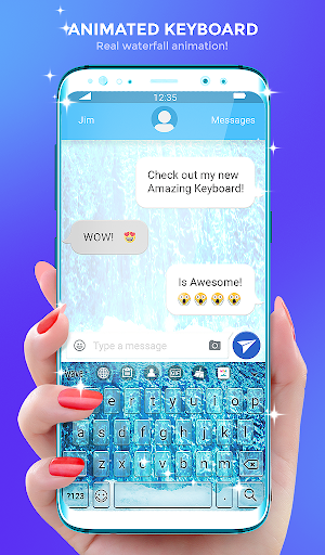 Waterfall Animated Keyboard   Live Wallpaper screenshot 1