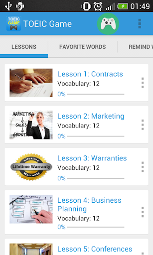 Vocabulary TOEIC Test screenshot 1