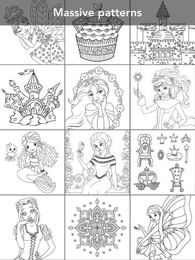 Princess coloring book screenshot 10