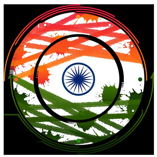 Indian flag clock icon