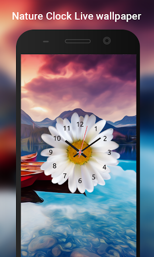 Nature Clock Live wallpaper 2 تصوير الشاشة