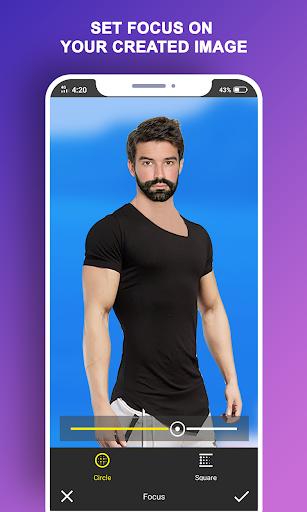 Man T-Shirt Suit Photo Editor screenshot 6