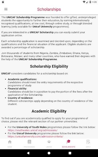 Unicaf | UK University Degree Scholarships screenshot 12
