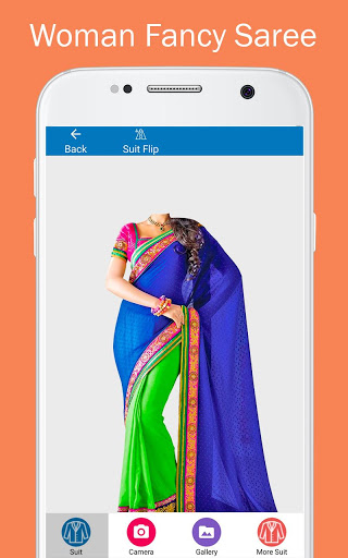 Woman Fancy Saree Photo Suit Editor 1 تصوير الشاشة