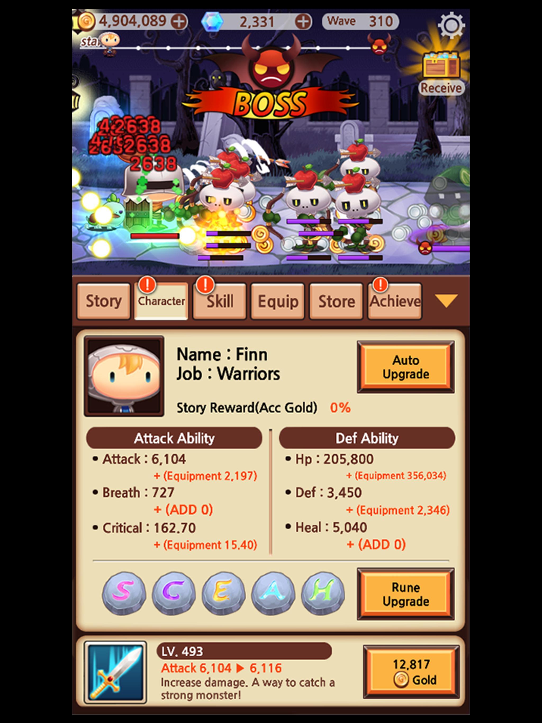 Sudden Warrior (Tap RPG) screenshot 11