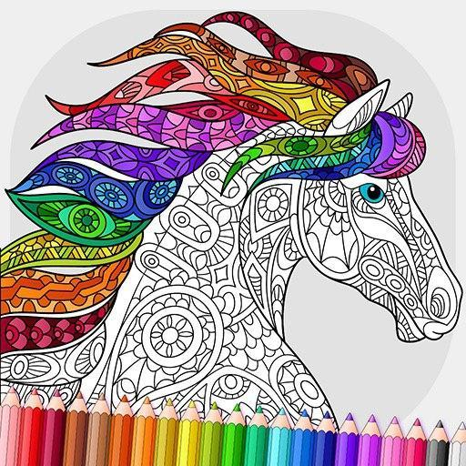 Relaxing Adult Coloring Book icon
