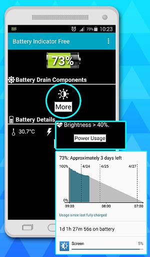 battery indicator free 2 تصوير الشاشة