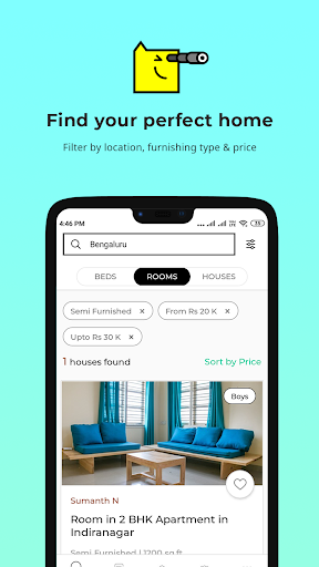 Nestaway- Rent a House, Room or Bed screenshot 1