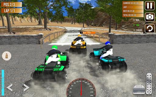 Offroad ATV quad bike racing sim: Bike racing game screenshot 14