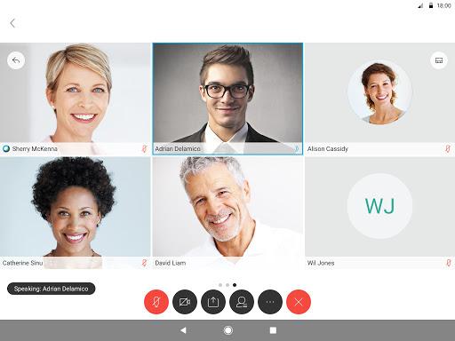 Cisco Webex Meetings 8 تصوير الشاشة