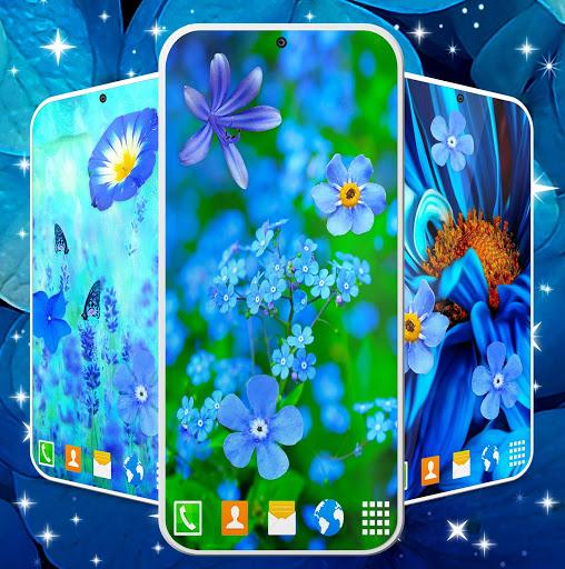 Blue Flowers Live Wallpaper 🌼 Flower 4K Wallpaper screenshot 1