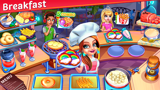 Cooking Express : Food Fever Cooking Chef Games 1 تصوير الشاشة