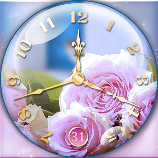 Rose Clock Live Wallpaper
