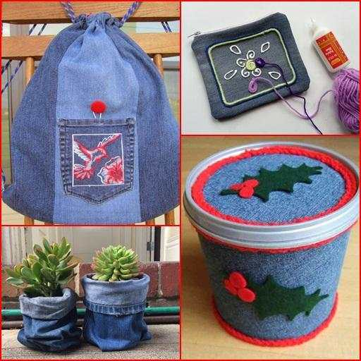Recycled Jeans Craft Ideas screenshot 7
