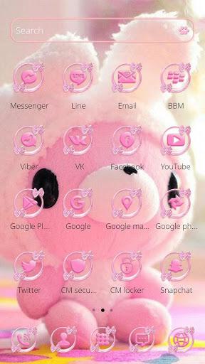 Cute Bear Theme Pink Bow Bear screenshot 2