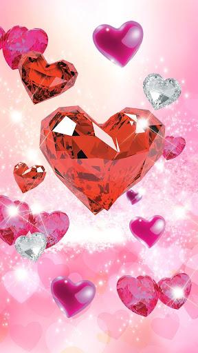 Diamond Hearts Live Wallpaper screenshot 3