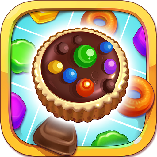 Cookie Mania - Match-3 Sweet Game أيقونة