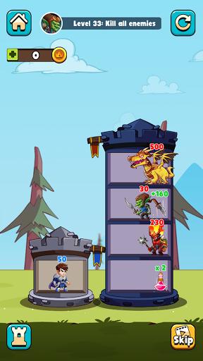 Hero Tower Wars - Merge Puzzle screenshot 1