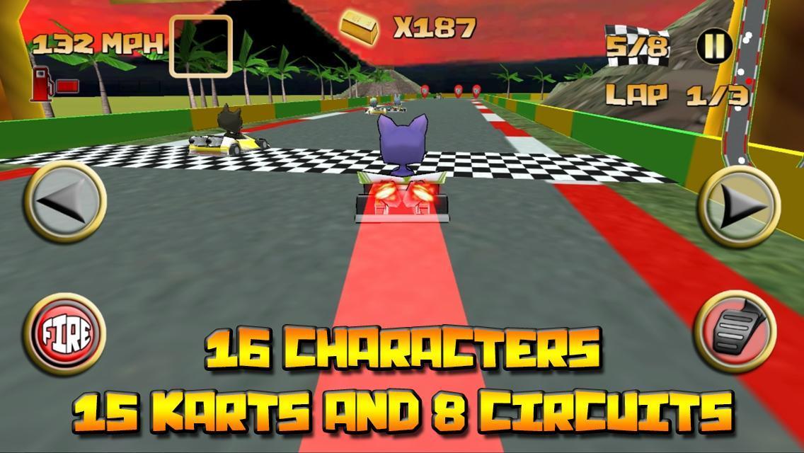 Kartoon Racing Driver simulator 5 تصوير الشاشة
