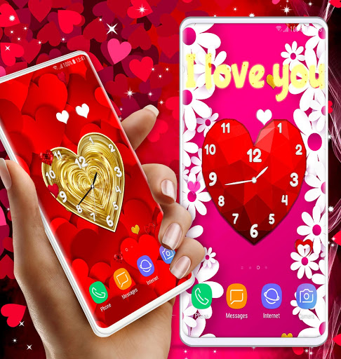 Love Clock Wallpaper ❤️ Hearts 4K Live Wallpaper screenshot 5