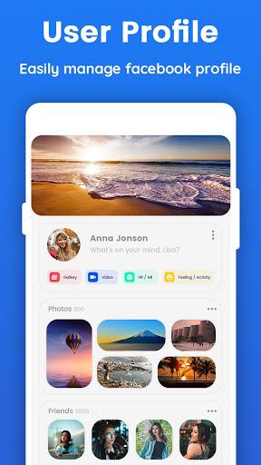 Lite for Facebook - Quick Chat for Messenger 3 تصوير الشاشة