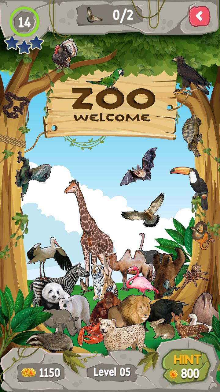 Zoo Adventure Hidden Objects 1 تصوير الشاشة