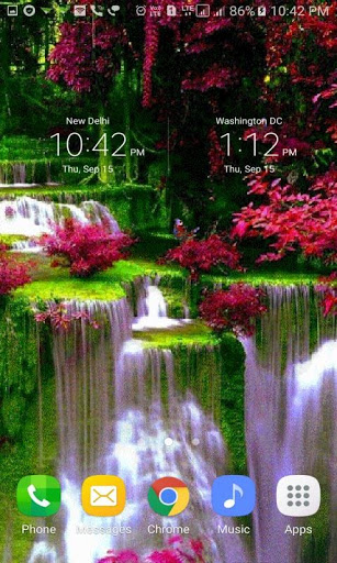 Waterfall Flowers LWP 3 تصوير الشاشة