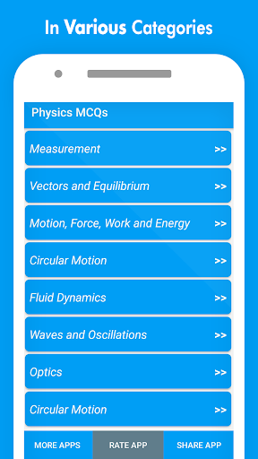 Physics MCQs with Answer and Explanations screenshot 2