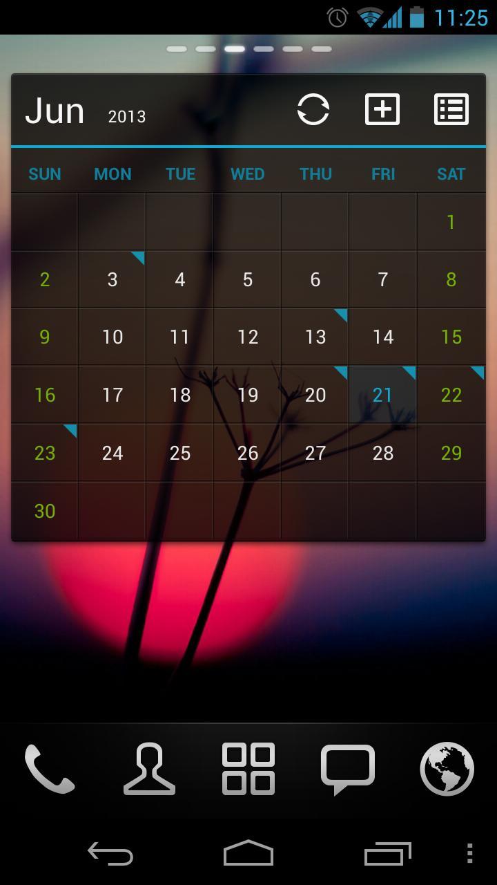 GO Calendar Widget screenshot 4
