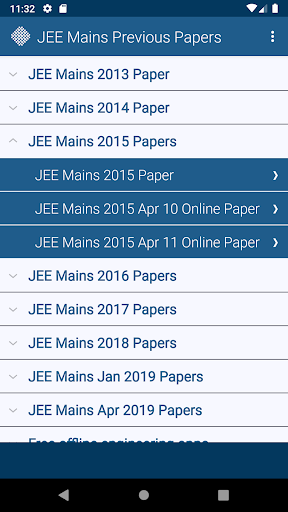 JEE Mains Previous Papers Free 2 تصوير الشاشة